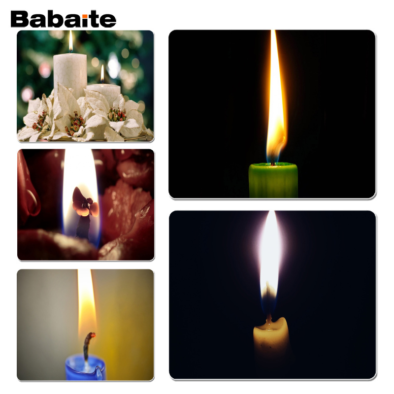 Babaite New Design Candle,Wick Laptop Computer Mousepad Size for 18x22cm 25x29cm Rubber Mousemats
