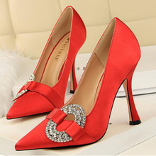 AGUTZM Sexy Patent silk fabrics High Heels Nude Pointed toe Pumps Shoes Party Women Stiletto heel Pump 10.5cm v527