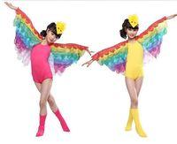 2015 בנות ציפור בעלי החיים תחפושת ריקוד ביצועי ילדים כנפי פרפר בנות תחפושות תולעת מודרני dancewear אולם נשפים