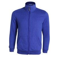New Blue Zipper Jacket Men 2016 Autumn Fashion Stand Collar Slim Fit Fleece Jacket Veste Homme