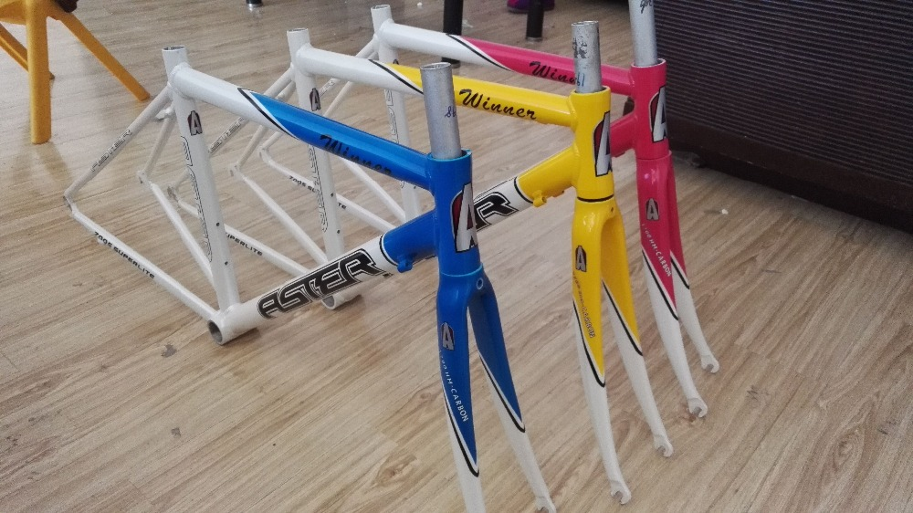 ASTER Aluminum alloy Road frame set with half carbon fork 650C Wheel size 43CM C-T d09 aluminum alloy bicycle cnc front fork washer blue white 28 6mm