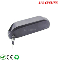 EU US free shipping and taxes 250W 350W 500W Lithium ion 36V 20Ah polly shark down tube battery for fat tire bike fat tire bike