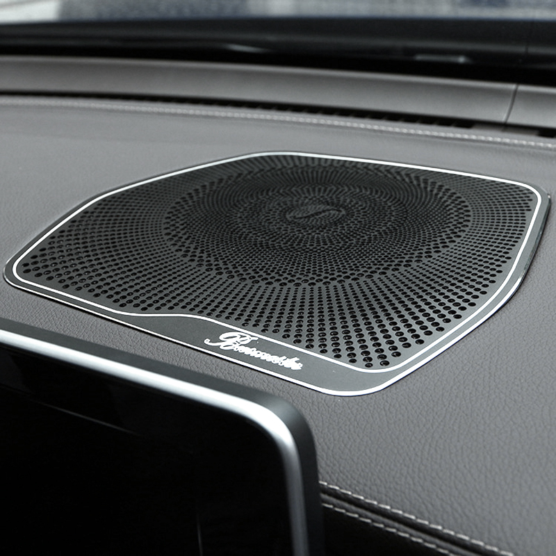 For Mercedes Benz <font><b>W205</b></font> GLC C Class C180 <font><b>C200</b></font> Car styling Audio Speaker Dashboard Loudspeaker Cover Stickers Trim Accessories LHD image