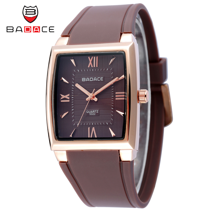 BADACE Luxury Brand Business Men Watches Men PU Band Quartz Watch Rose Gold Watches reloj Waterproof Sport Clock montre homme casima luxury brand sport quartz watches men reloj hombre fashion silicone band100m waterproof men watch montre homme clock