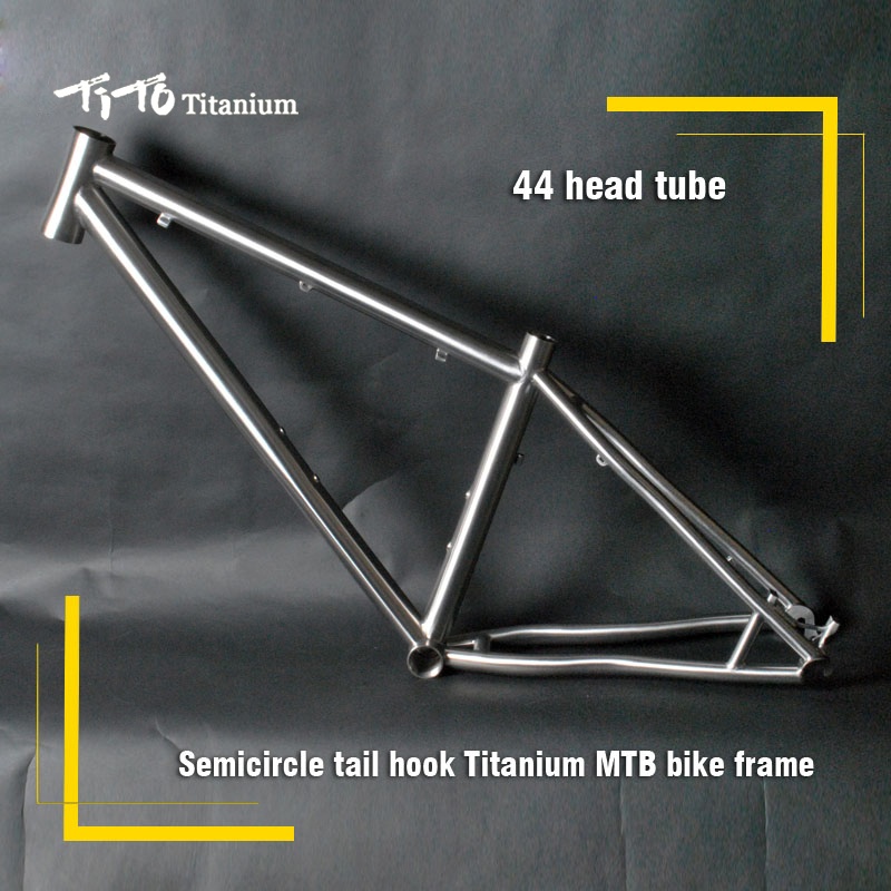 FREE SHIPPING !!! TiTo titanium mountain bike MTB frame 26 27.5 29er simi-circle PM mount disc brake 44 head tube bicycle free shipping tito titanium mountain bike mtb frame 26 27 5 29er simi circle a tail hook 34 head tube