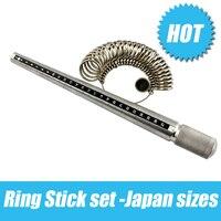 Wholesale Ring Stick And Ring Sizer Set Measure Finger Size Ring Gauge Metal Finger Sizer Tool