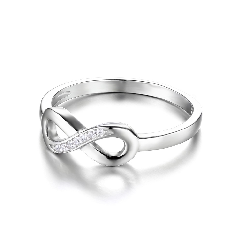 JewelryPalace Infinity Forever Love Cubic Zirconia Anniversary Promise Ring For Women Genuine 925 Sterling Silver Fine Jewelry 4