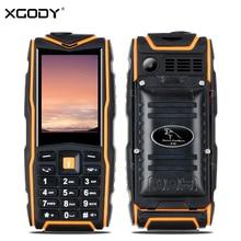 XGODY F18 Tarjeta de Teléfono 2G GSM Dual Sim A Prueba de Choques Impermeable 2500 mAh Bluetooth 4.0 de la Linterna de 2.4 Pulgadas Resistente Característica Teléfono móvil
