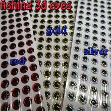 2019new pesca 3d olhos tamanho: 3mm -- 12mm cada cor 267pcs no total 800 pçs/lote artificiais realistas olhos