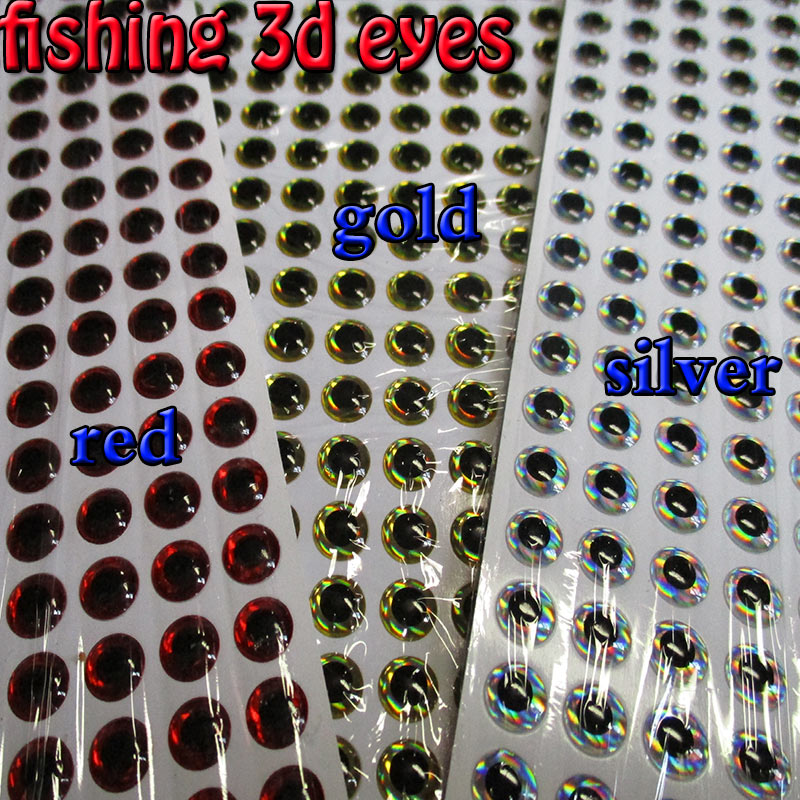 200 pk 3mm 1//8 inch 3D Holographic Fishing Lure Eyes Jigs Fly Tying Top Water