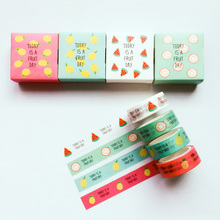 5 Meters Fresh Fruit Day Summer Style Paper Masking Tape Washi Tape DIY Scrapbooking Decorative Stick Stationery School Supply