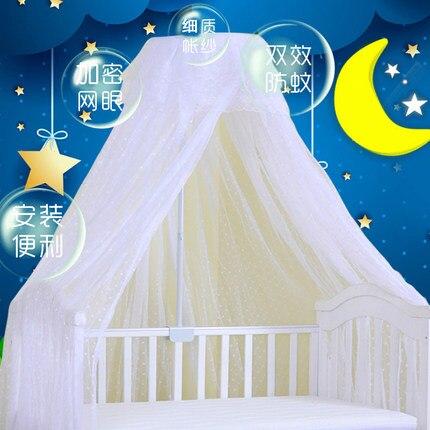 Support de support de luxe suspendu dôme moustiquaire pour lit de bébé, maille de moustique de berceau pliable
