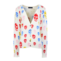 Spring Autumn Women New Brand Sweaters Fashion 3D Floral Print Female Cardigan Harajuku Knitted