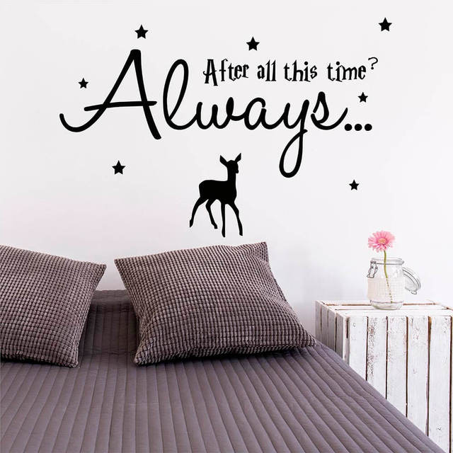 after all this time always wall quote with stars and deer wall decal