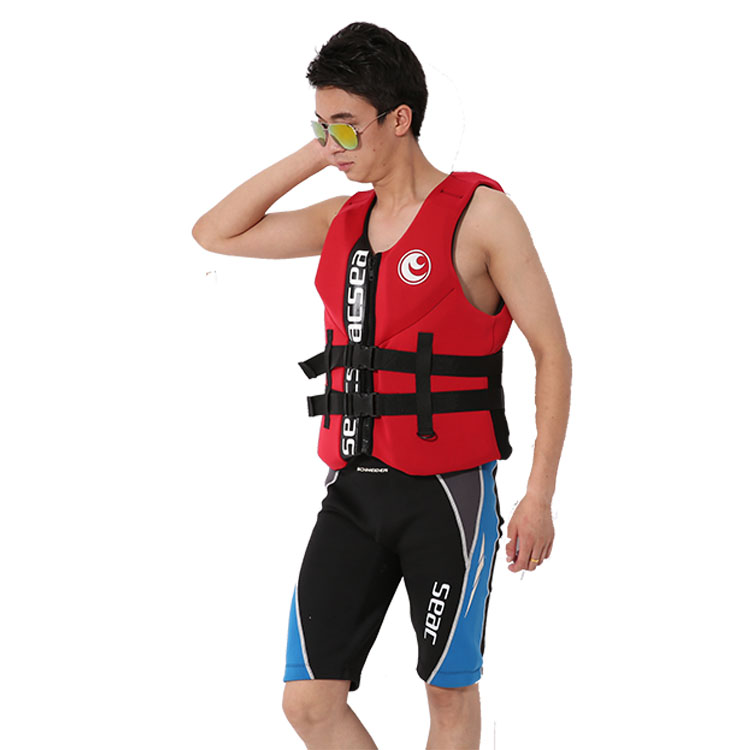 Hisea Professional Neoprene Jacket Life Vest Fishing Life Vest PFD Inflatable Life Jacket For Adults Swimwear Swimming jackets