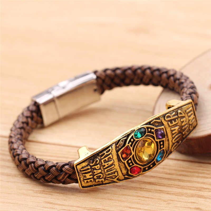 הנשמה אבן נוקמי מלחמת אינסוף תאנסו צמיד Infinity Gauntlet כוח צמיד יד סריגה עבור גברים נשים תכשיטי מתנה
