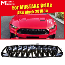 For MUSTANG Front Grille grill ABS Gloss Black Fits For Ford MUSTANG  Front Bumper Kidney Racing Grills 1:1 Replacement 2018-in цена