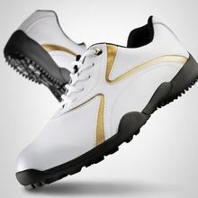 PGM Аутентичные Мужская обувь для гольфа мужская обувь для отдыха фиксированная ноготь водонепроницаемая и дышащая Спортивная обувь для мальчиков