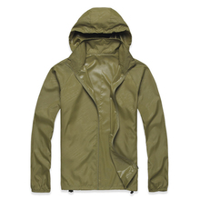 ELOS-Outdoor Unisex Cycling Running Waterproof Windproof Jacket Rain Coat -Army Green