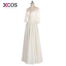 XCOS 2018 New Arrival Ivory Mother of the Bride Dresses Elegant Plus Size Long Formal Gowns