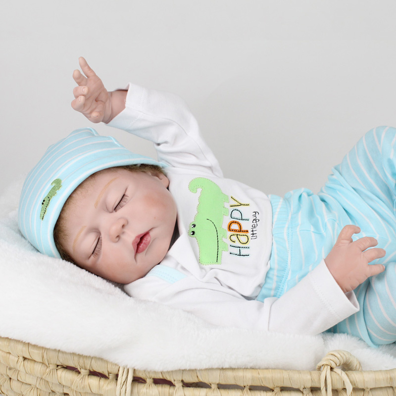 22 full silicone doll reborn realistic sleeping newborn baby boy dolls for children gift bebe alive reborn bonecas vivid silicone reborn baby dolls newborn doll toys for girl children 21 newborn baby boy doll sleeping dolls