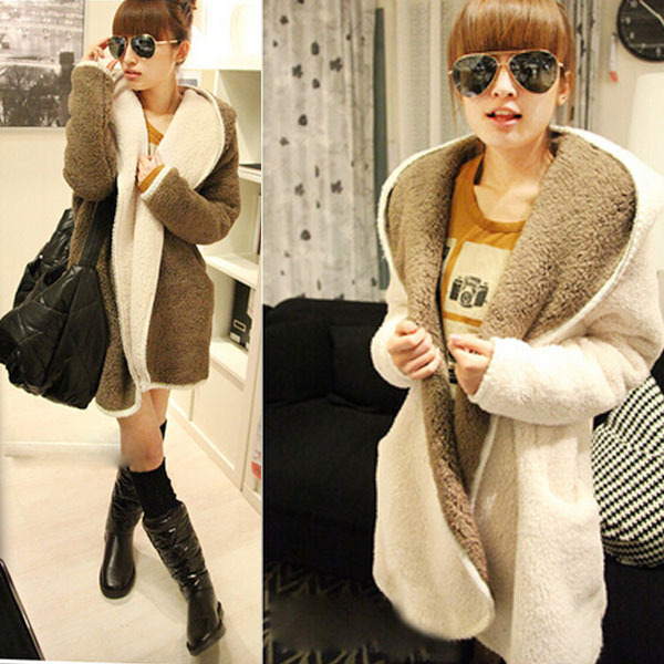 Free Size Winter Style Of  Pregnant Women Two  way Coral Fleece Coat Big Size for fashion Mammy Coat