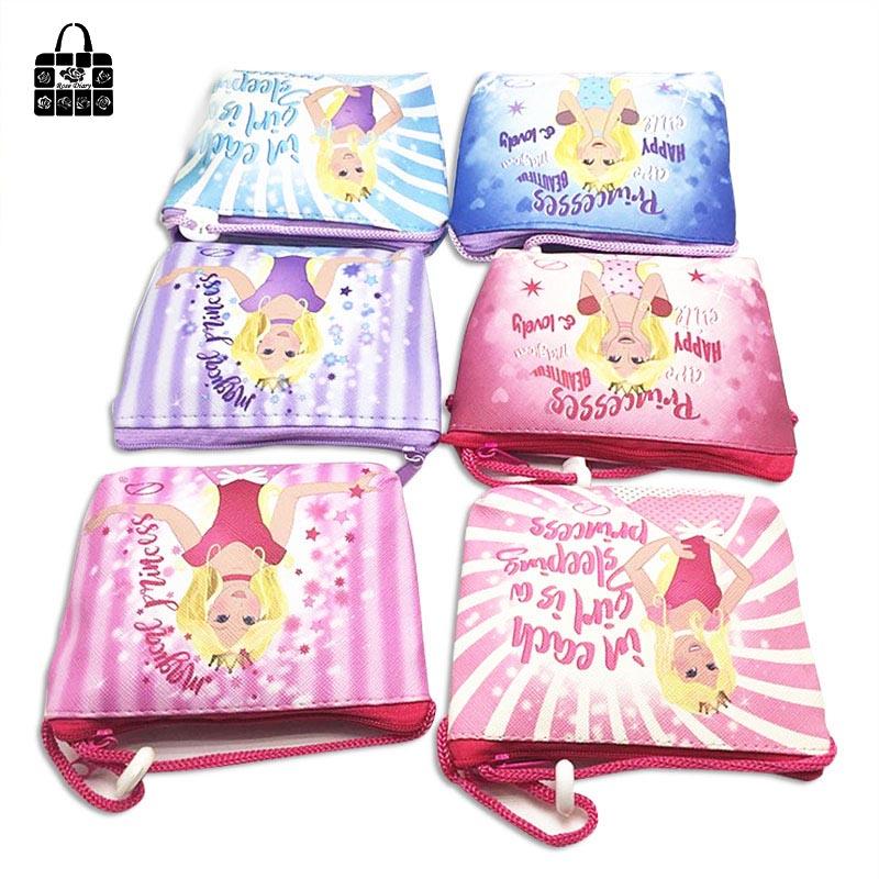 Rose Diary New Fashion Cartoon Coin Purse Children PU Leather Diagonal Zipper Bag Girl Key Bag Storage Package Gift