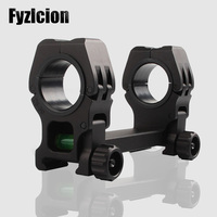 Fyzlcion Rifle Scope Mount with Bubble Level 25.4 / 30MM Rings Mount Picatinny Weaver Rail 20mm For Rifle and gun RL2 0033