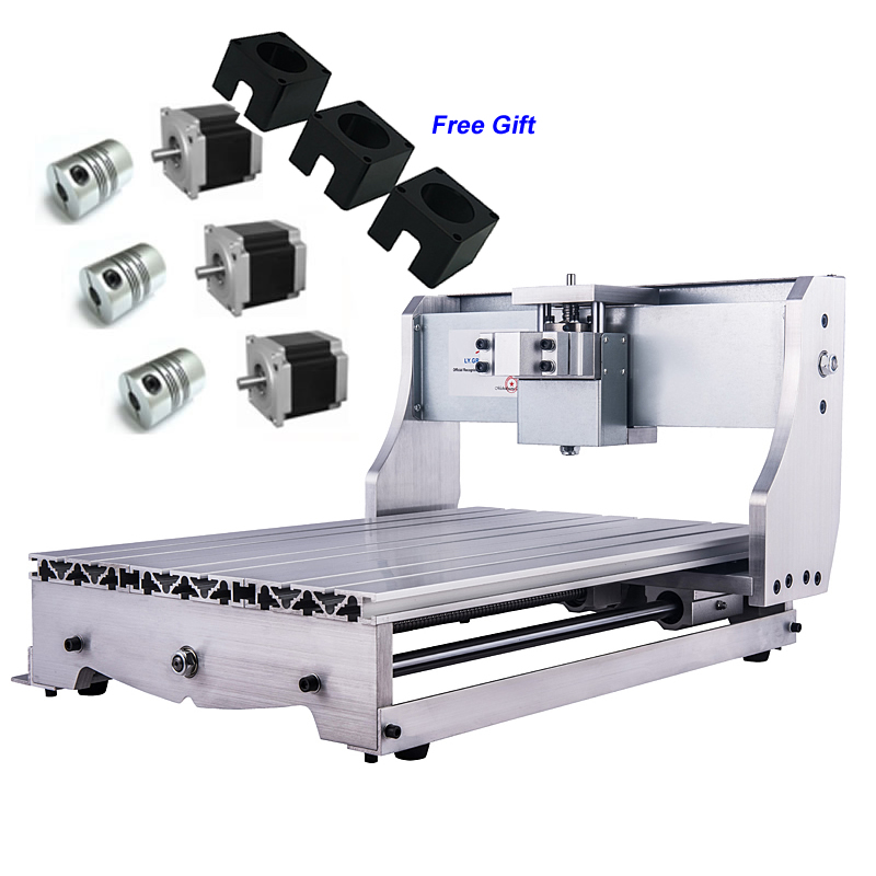 Aluminum CNC Frame Kit Engraving Machine Table + 3 PCS Stepper Motor Bracket Coupling for 3040T Wood Router