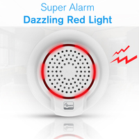 SmartYIBA Z WAVE SIREN 868MHz Wireless Flash Siren Alarm Sensor indoor Siren Wired Mini Horn Siren for Home Alarm SOUND SYSTEM