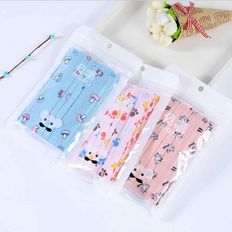 Bacteria Layers Cartoon 10pcs Kids Disposable Printing Masks Anti-dust 3 Children Non-woven Mouth Surgical Proof Face Mask