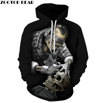 Funny Skull Hoodies 3D Hoodies Men Women Sweatshirts Unisex Tracksuits Fashion Casual Streetwear Hooded Brand Pullover