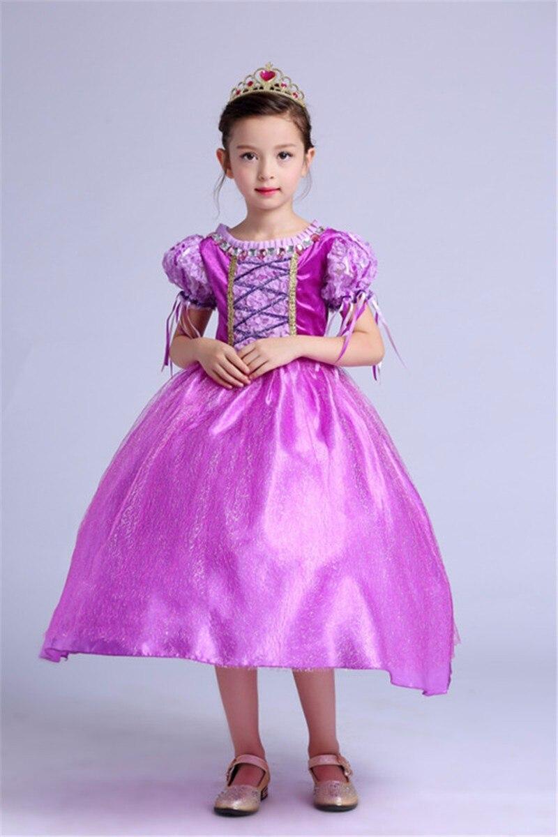 Hermosa Niños Vestidos De Dama De Color Púrpura Colección ...