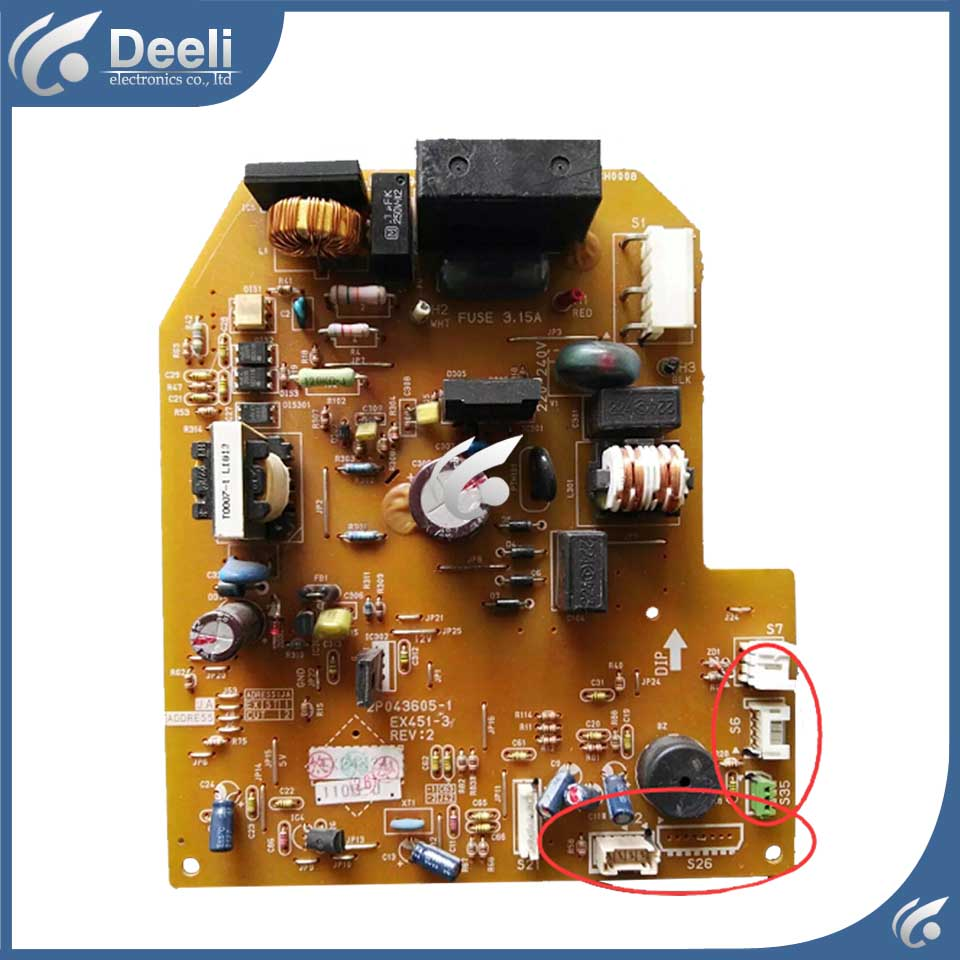 original for air conditioning Computer board control board 2P043605-1 EX451-3 used board цены