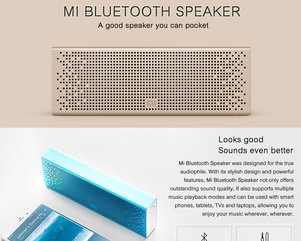 Original Xiaomi Mi Bluetooth Speaker Stereo Wireless Mini Portable Bluetooth Speakers Music MP3 Player Support Handsfree TF Card ok (1)