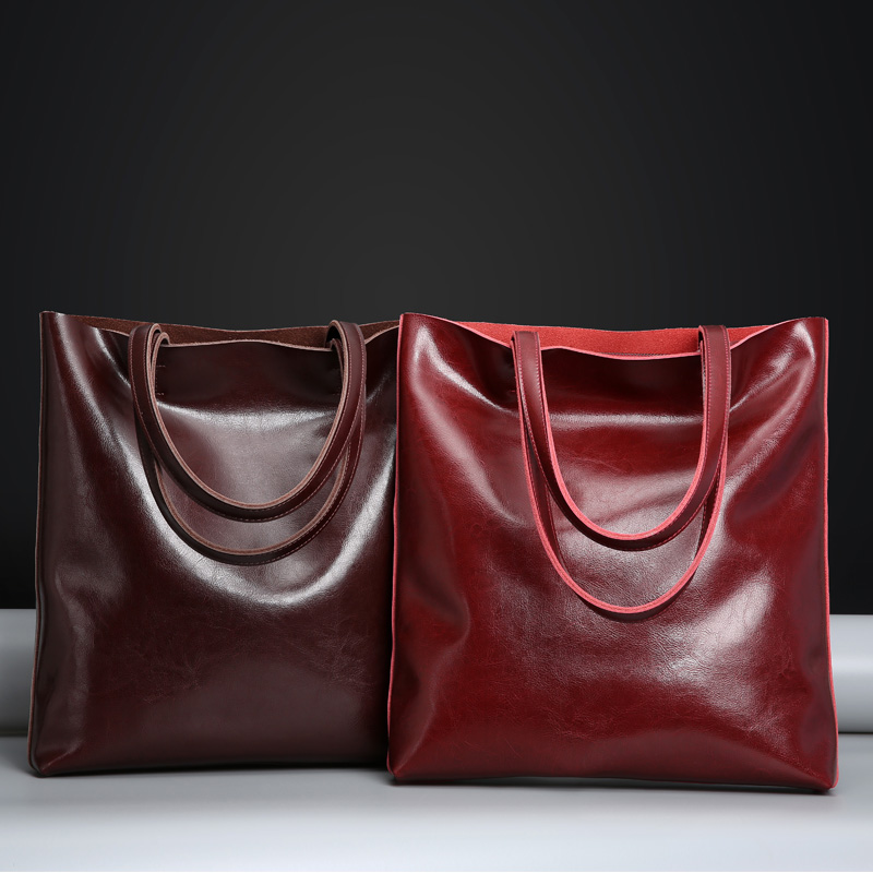 2018 New Genuine Leather Handbags Big Women Tote Bags Female Fashion Designer Bucket Bag High Quality Shopping Bag Shoulder Bags unique design women leather canvas women big tote bag knit hollow out basket bag lady brown shopping bucket bags famous designer