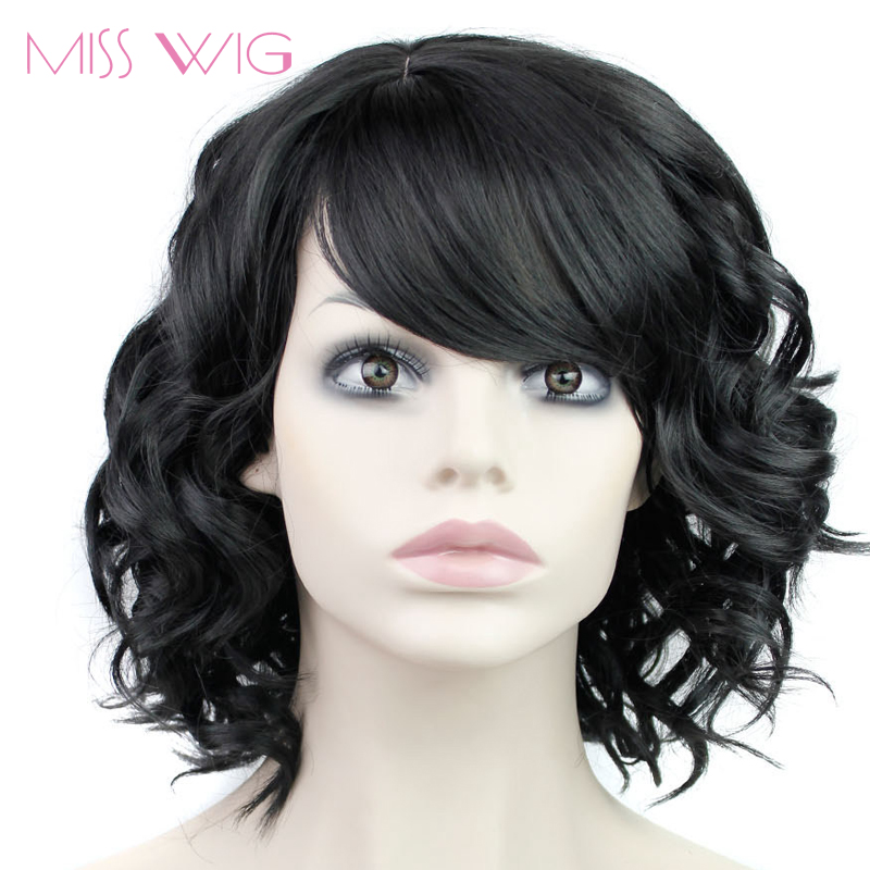 MISS WIG Synthetic Short Wavy Wig Short Synthetic