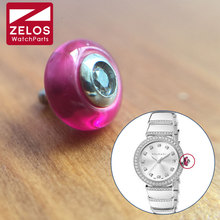 ZELOS 6.2mm Steel waterproof Ruby for BVLGARI watch parts. US  36.28    piece Free Shipping 195b65d0d84d