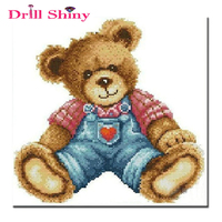 Diamond Mosaic Cartoon Bear Doll Diy 5D Diamond Painting Cross Stitch Square Crystal Sets Embroidery Beading
