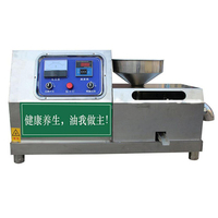 Automatic Oil Press Commercial Oil Squeezed Medium Oil Press Screw Press Oil Machine Sesame Camellia Seed DH 50