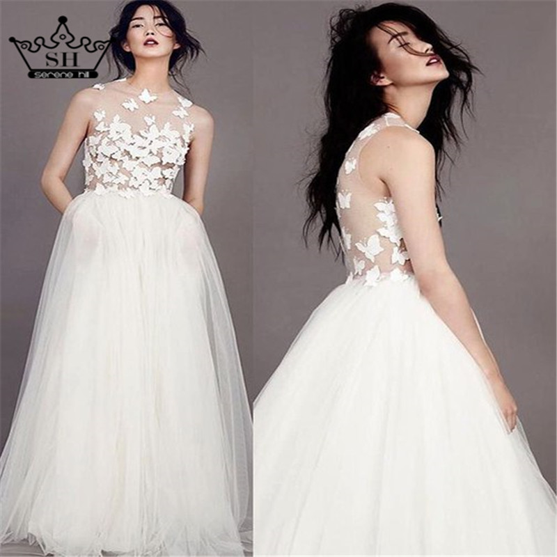 Real Picture Luxury 3D Butterfly Wedding Dress Bridal