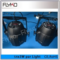 Free shipping 2pcs 2pcs DJ Disco Par Led 54x3W Stage Light DMX professional DJ equipment