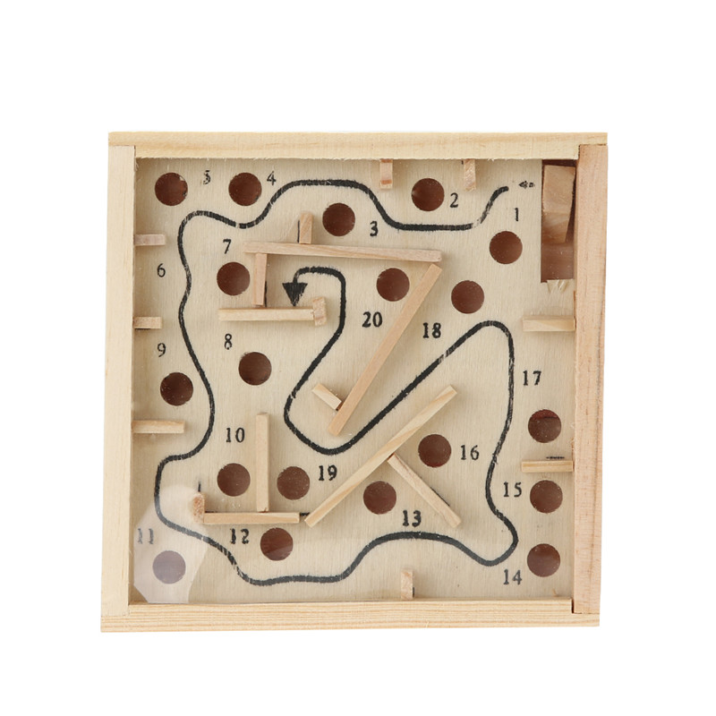 3d Wooden Maze Beads Board Game Toys Children Labyrinth