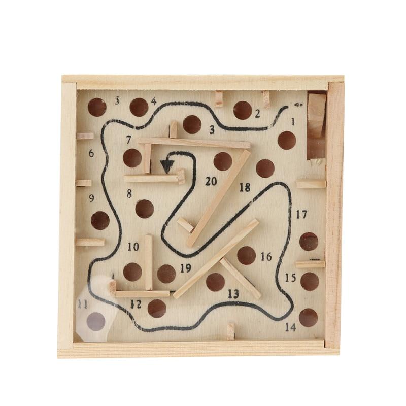 3D Wooden Maze Beads Board Game Toys Children Labyrinth Puzzle Math Toy Baby Balance Brain Teaser Intelligence Development Toys