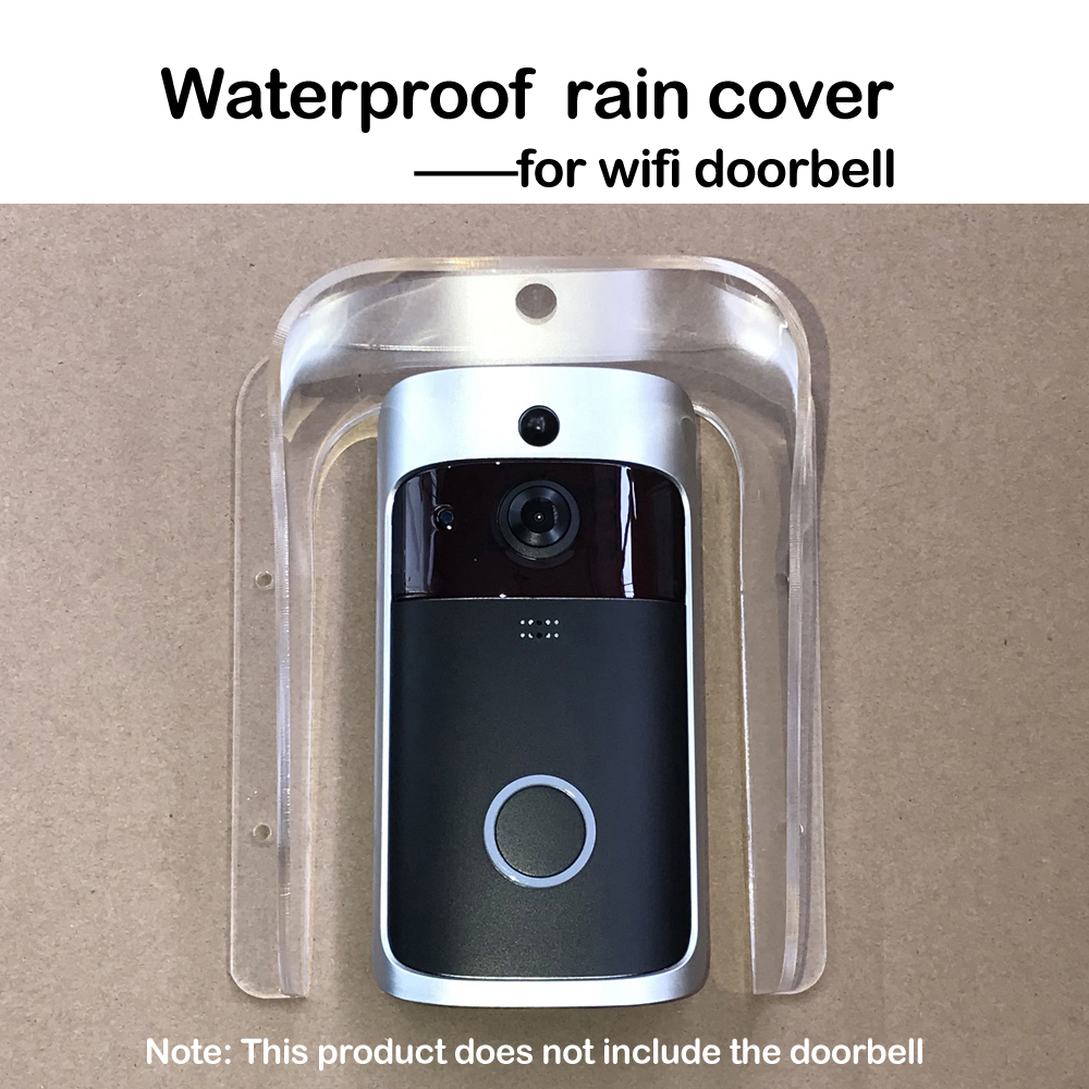 Yiphates Plastic Rain Cover Universal Type Doorbell Waterproof Cover Doorbell Rain Cover Waterproof Shell for Door Access//Attendance Machine//Doorbell Chime
