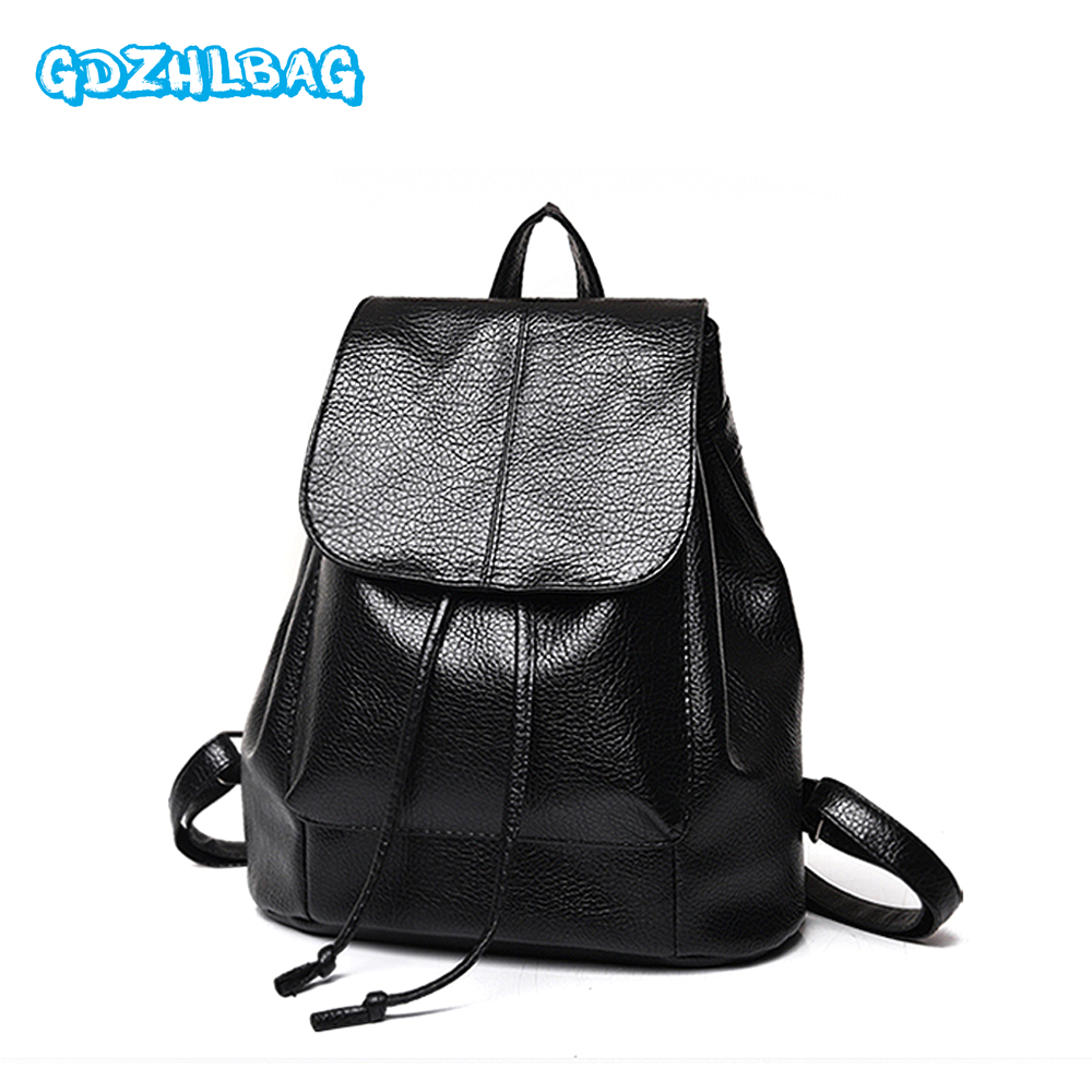 GDZHLBAG New Fashion Women Backpack Female Leather Womens Backpacks Bags Travel back pack Multi-purpose Shoulder bag ...