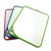 Nieuwe ontwerp Over dubbele Snijplank Antislip Plastic Keuken Snijden Snijplank Blokken dubbele side hoek snijden oppervlak