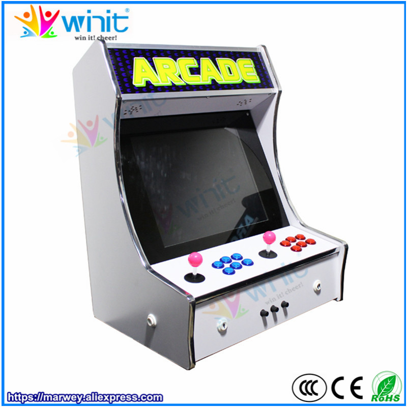 Bartop Pandora 5 arcade cabinet 1299 games 2 players 19 inch LCD video display wooden cabinet arcade game station console