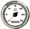 1pc High Quality Tachometers Revolution Meters 3000RPM 12/24V With Backlight For Boat Automobile Motor Homes White
