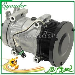 A/C AC sprężarka klimatyzacji pompa chłodzenia SD7H15 7H15 do ładowarki kołowej Caterpillar serii FLX 40405378 4698 AG522391 RE68372 SD4698